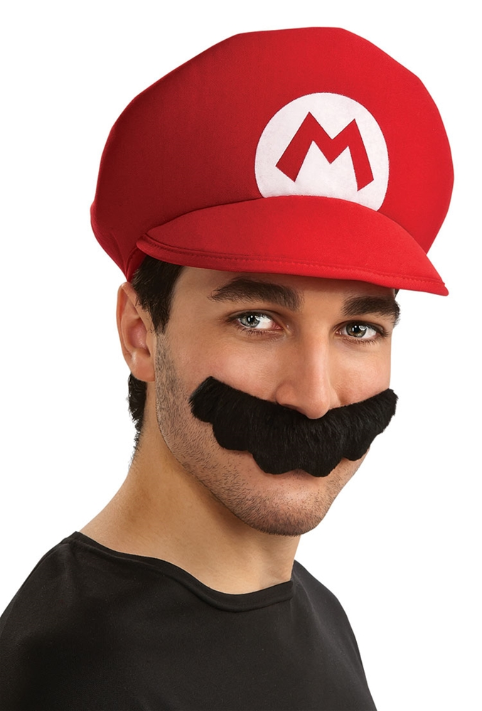 Mario Brothers Mario Hat & Mustache by Rubies