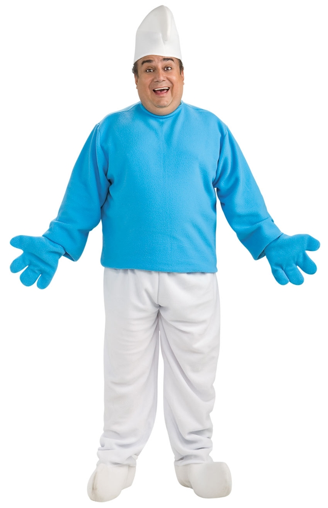 Smurf Deluxe Plus Size Adult Mens Costume by Rubies