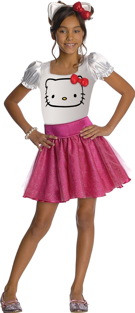 Hello Kitty Face Tutu Dress Child Costume