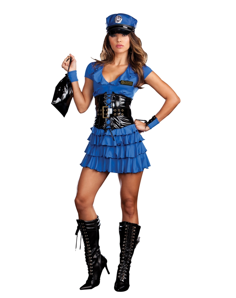 Late Night Patrol Adult Womens Costume