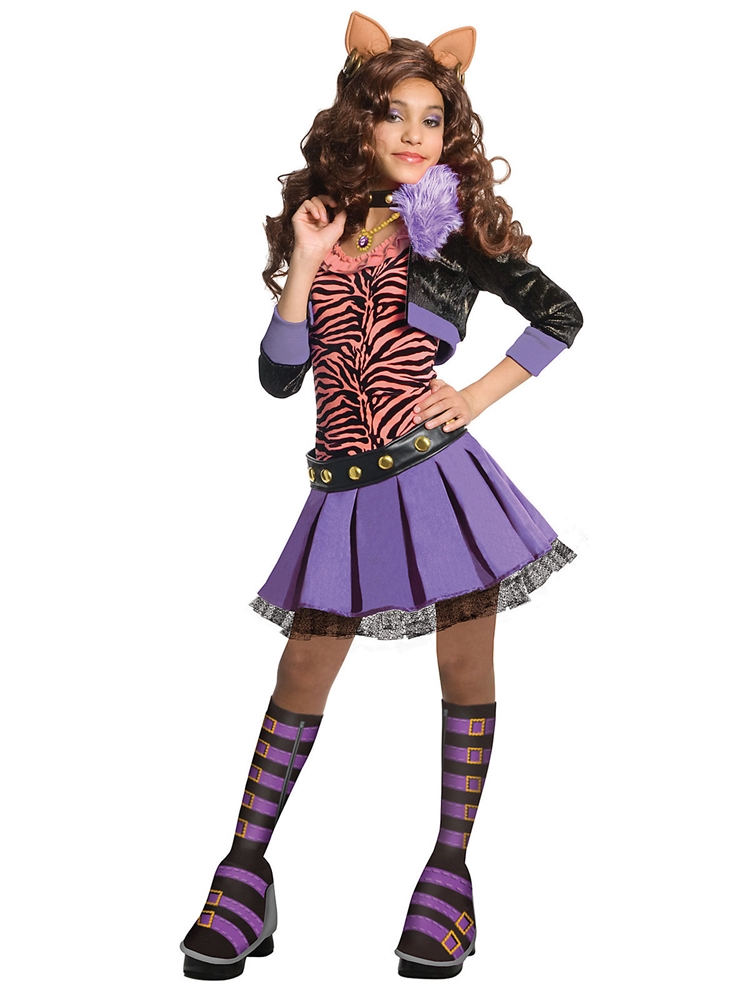 monster high deluxe clawdeen wolf child girls costume 260091. Black Bedroom Furniture Sets. Home Design Ideas