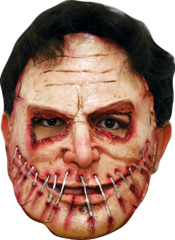 Serial Killer Pinned Mouth Adult Half Mask