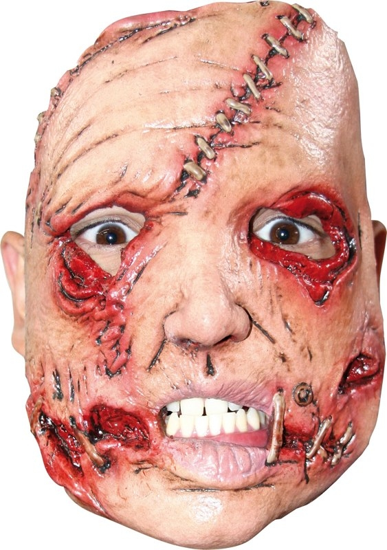 Serial Killer Stitch Face Adult Half Mask