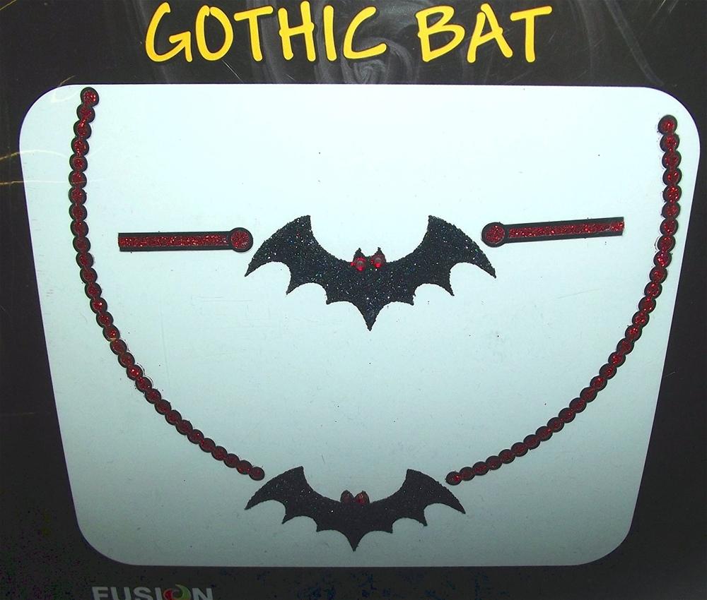 Gothic Bat Peel and Stick Necklace and Bracelet (Necklaces Bracelets)