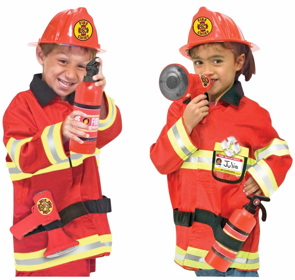 Fire Chief Role Play Costume Set (Play Costumes)