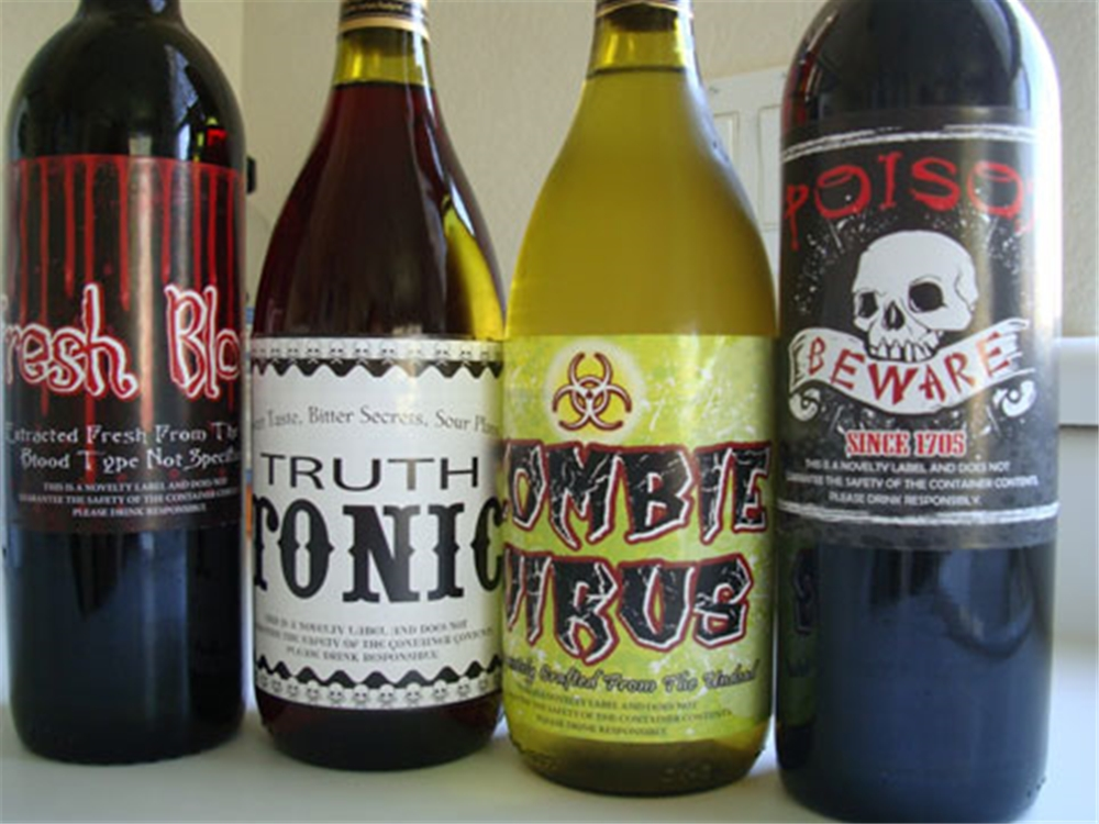 Halloween Bottle Stickers