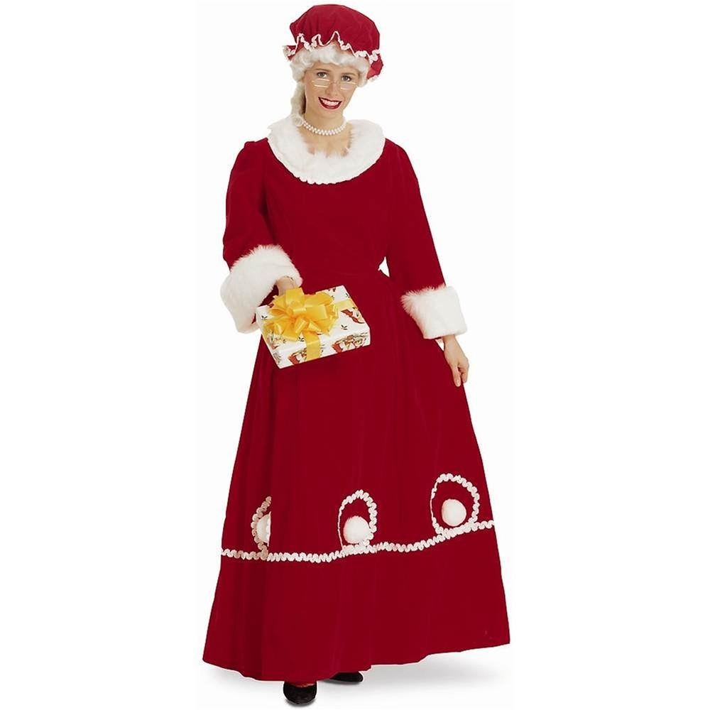 Mrs. Santa Claus Deluxe  Adult Women's Costume Medium/Large - DeluxeAdultCostumes.com