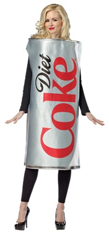 Diet Coke Can Adult Women Costume