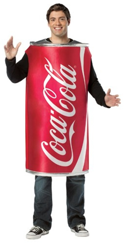 Coke Can Tunic Adult Men Costume