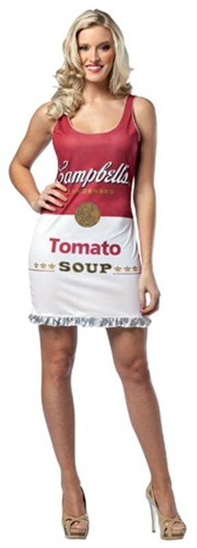 Campbells Tomato Soup Can Tank Adult Women Costume