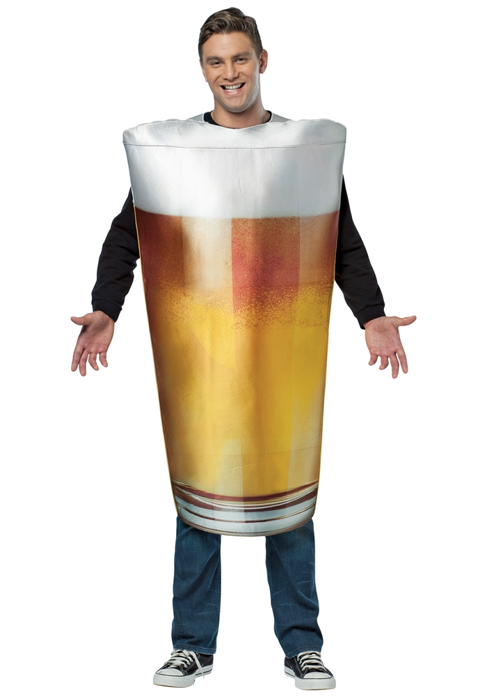 Get Real Beer Pint Adult Mens Costume