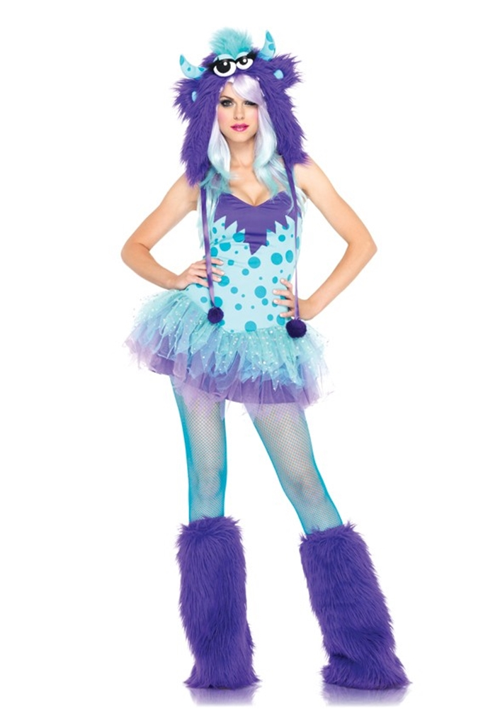 Polka Dotty Monster Sexy Adult Womens Costume