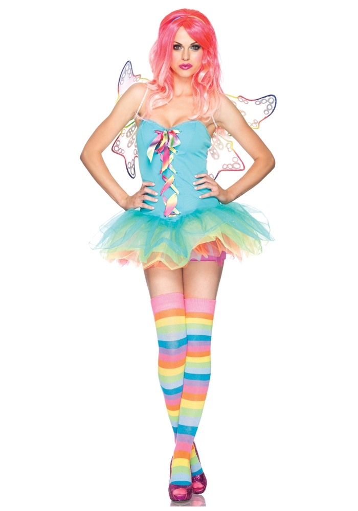 Rainbow Fairy Adult Womens Costume