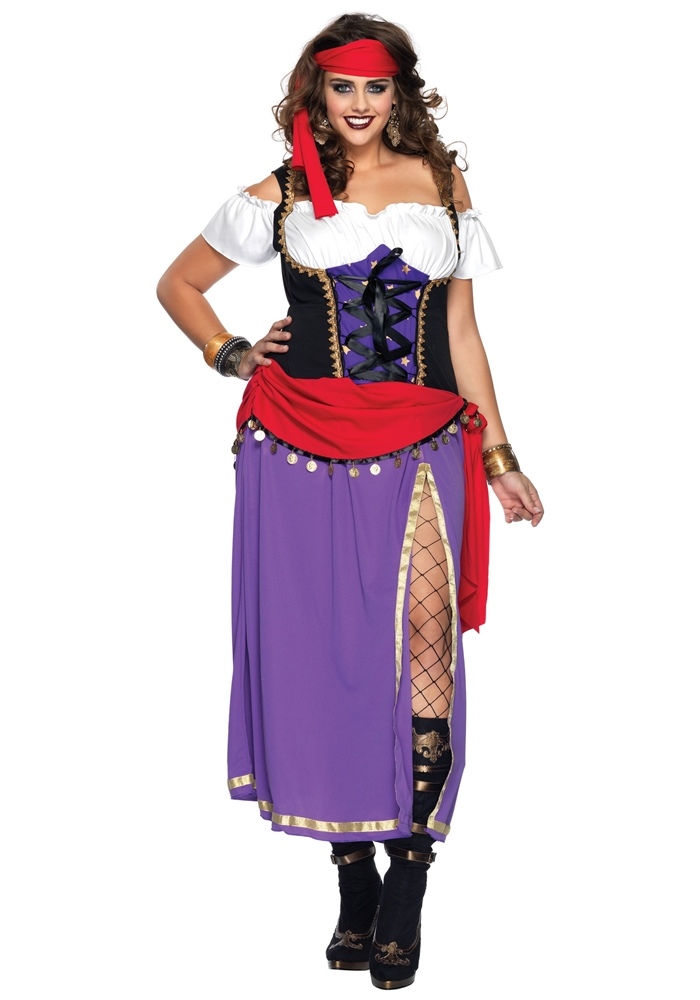 Traveling Gypsy Adult Womens Plus Size Costume