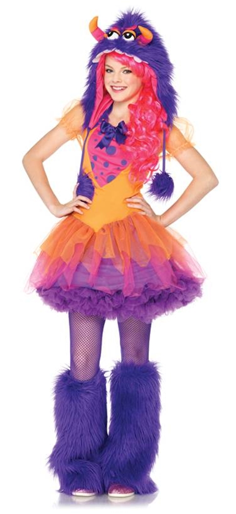 Image of Furrrocious Frankie Monster Child Girls Costume