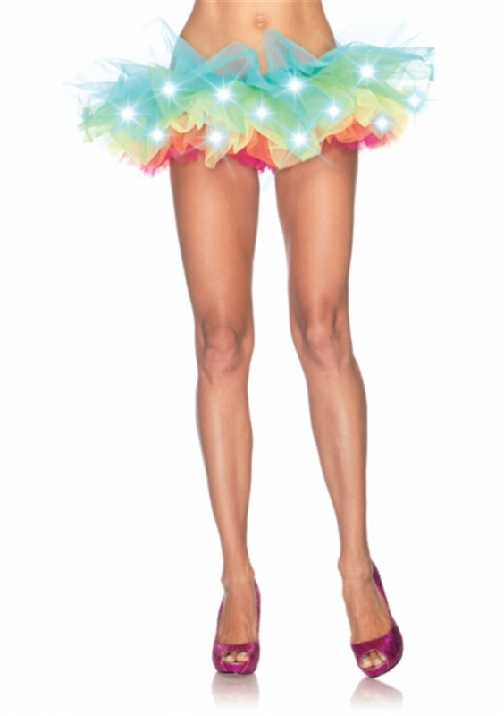 LED Light Up Neon Rainbow Tutu