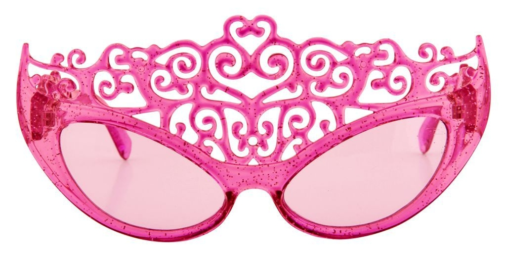 Image of Pink Glitter Princess Tiara Sunglasses