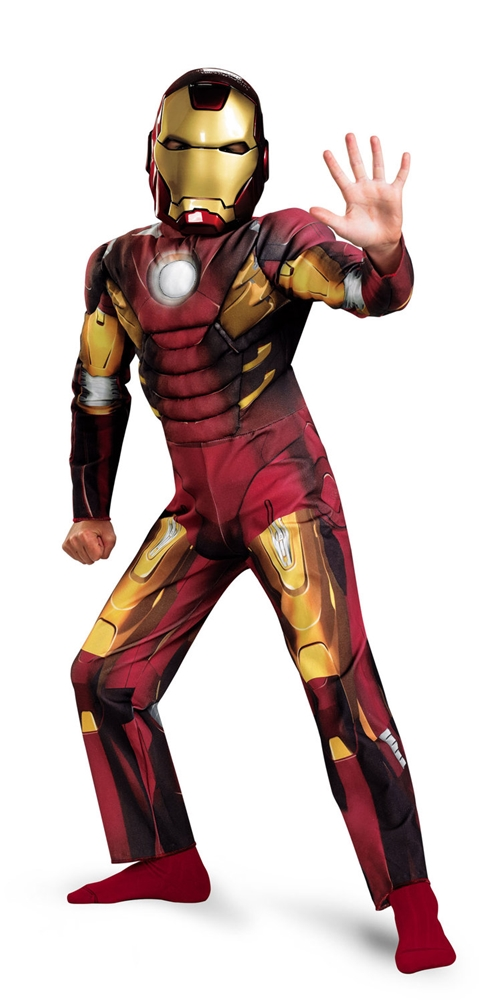 Iron Man Classic Avengers Muscle Child Costume
