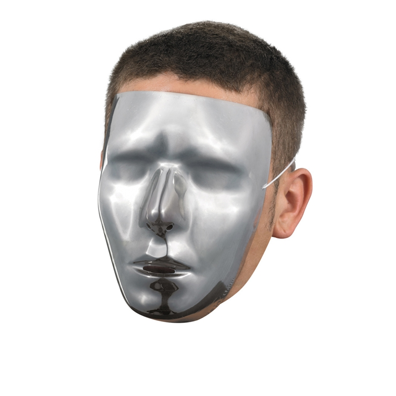 Faceless Male Chrome Mask by Disguise