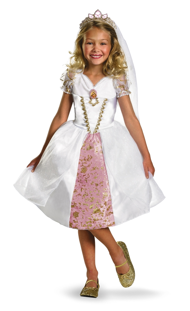 Tangled Rapunzel Wedding Gown Toddler & Child Deluxe Costume