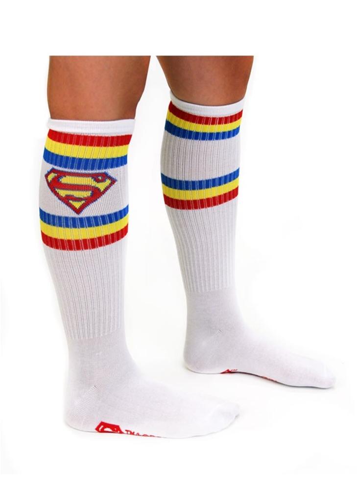 Image of Superman White Knee High Socks