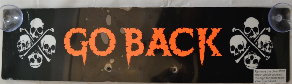 Night Glow Go Back Sign