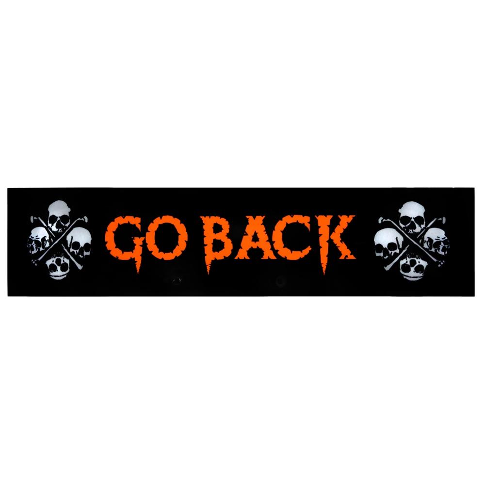 Night Glow Go Back Sign