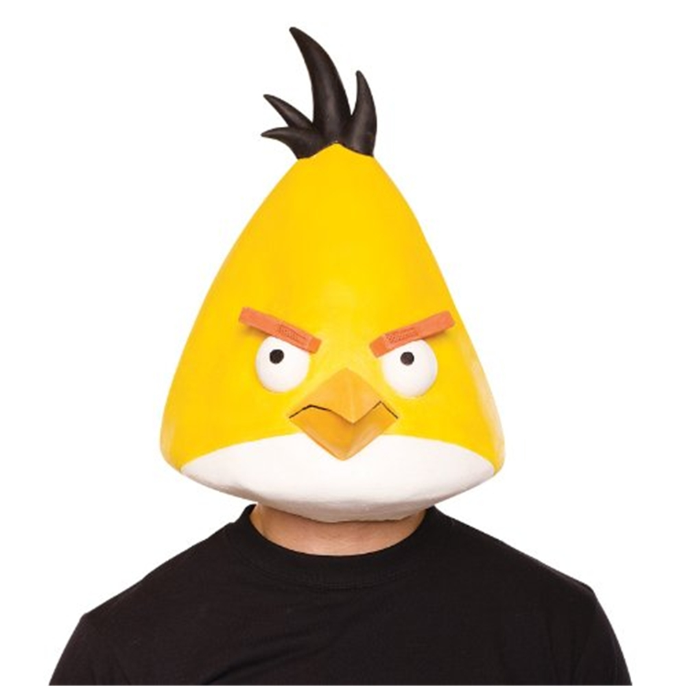 Angry Birds Yellow Bird Latex Adult Mask