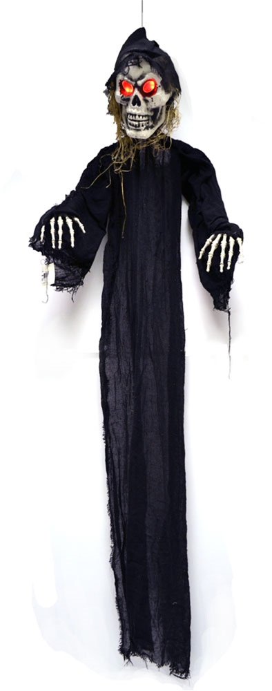 Image of Standing Skeleton with Light-Up Eyes Prop