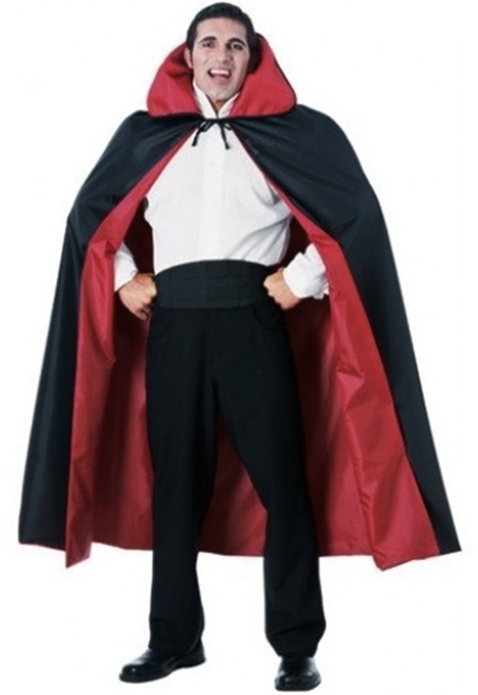 Reversible Taffeta Cape Red and Black