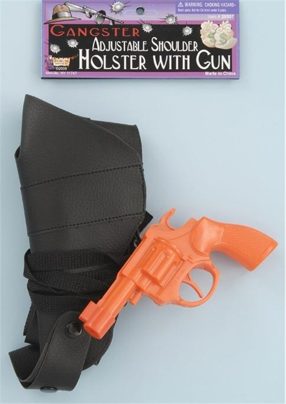 Orange Gun with Shoulder Holster