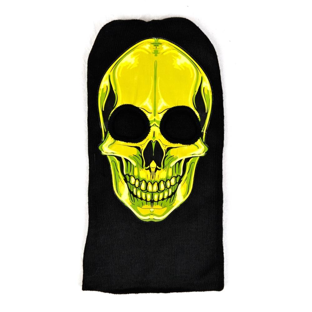 Green Skull Ski Mask
