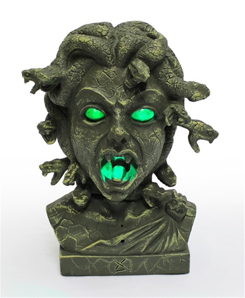 Medusa Bust Animated Prop