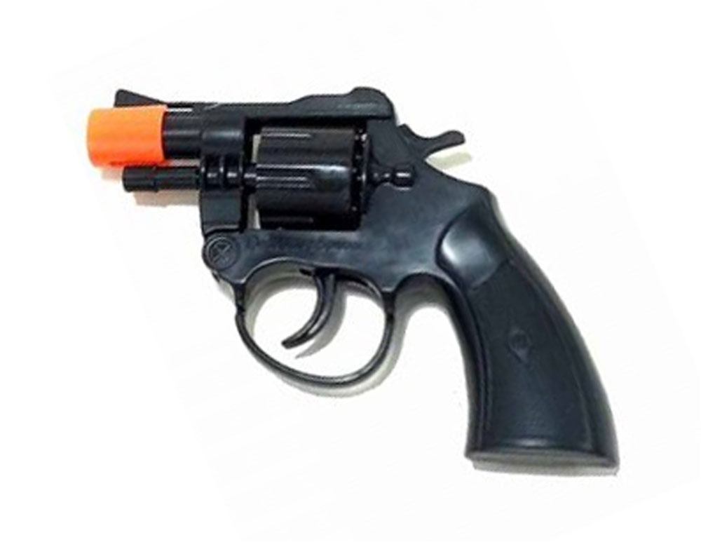 Super Black Cap Gun 6in