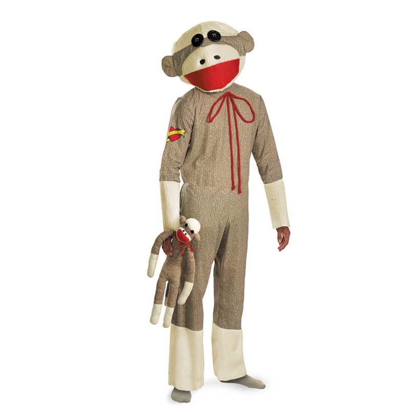 Sock Monkey Plus Size Adult Unisex Costume