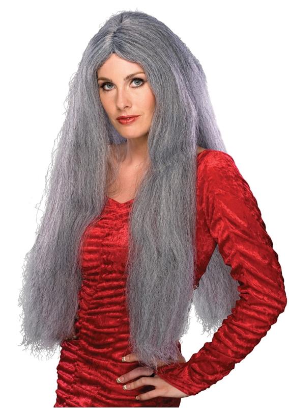 28 inch Long Grey Wig - 232104 | trendyhalloween.com