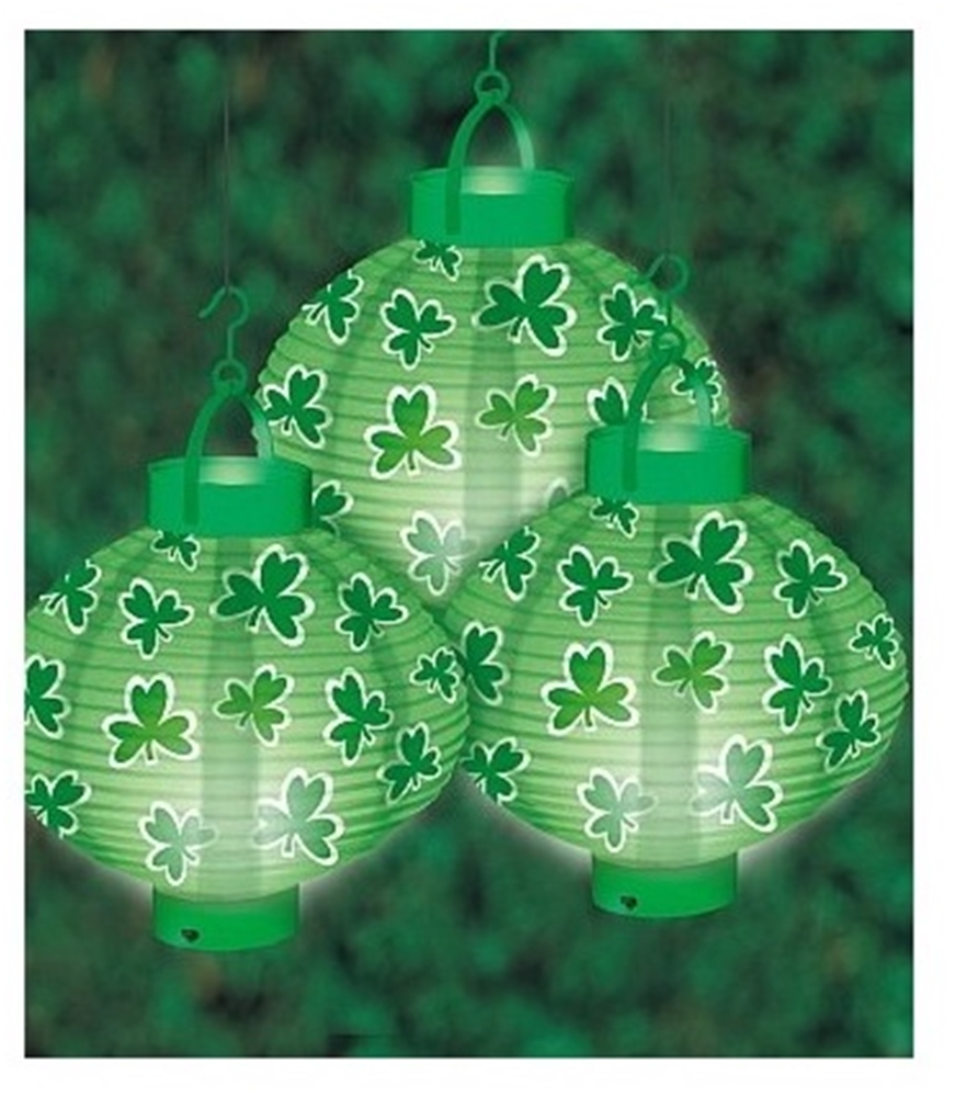 St. Patrick's Day Lighted Lanterns 3ct