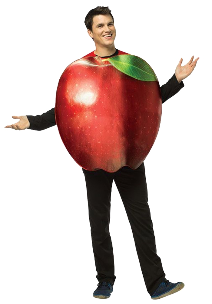Realistic Apple Adult Unisex Costume