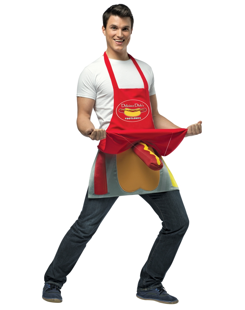 Hot Dog Vendor Adult Mens Costume