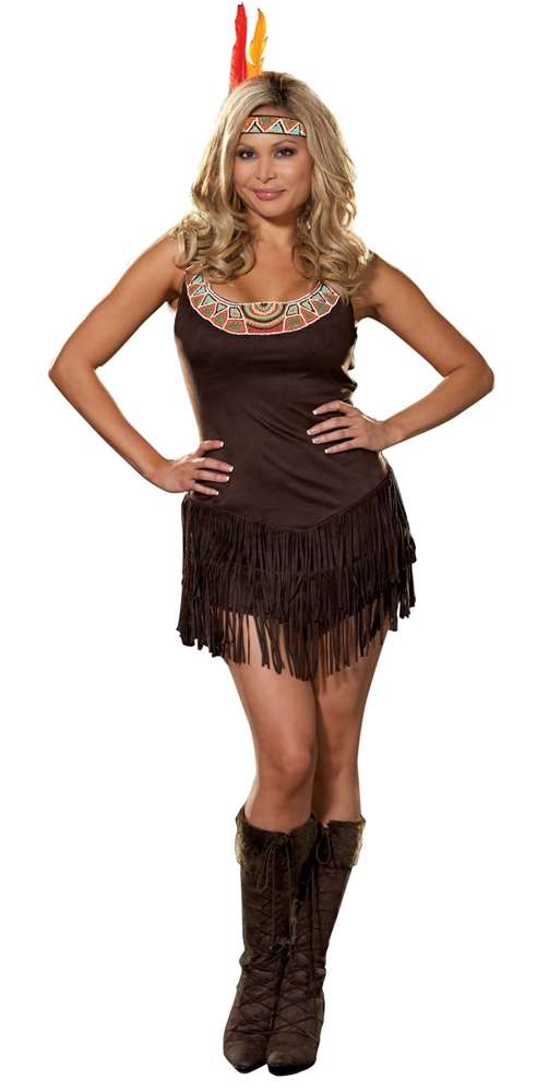Pocahottie Adult Womens Plus Size Costume