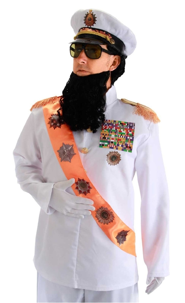 Dictator Jacket With Sash Adult Mens Costume