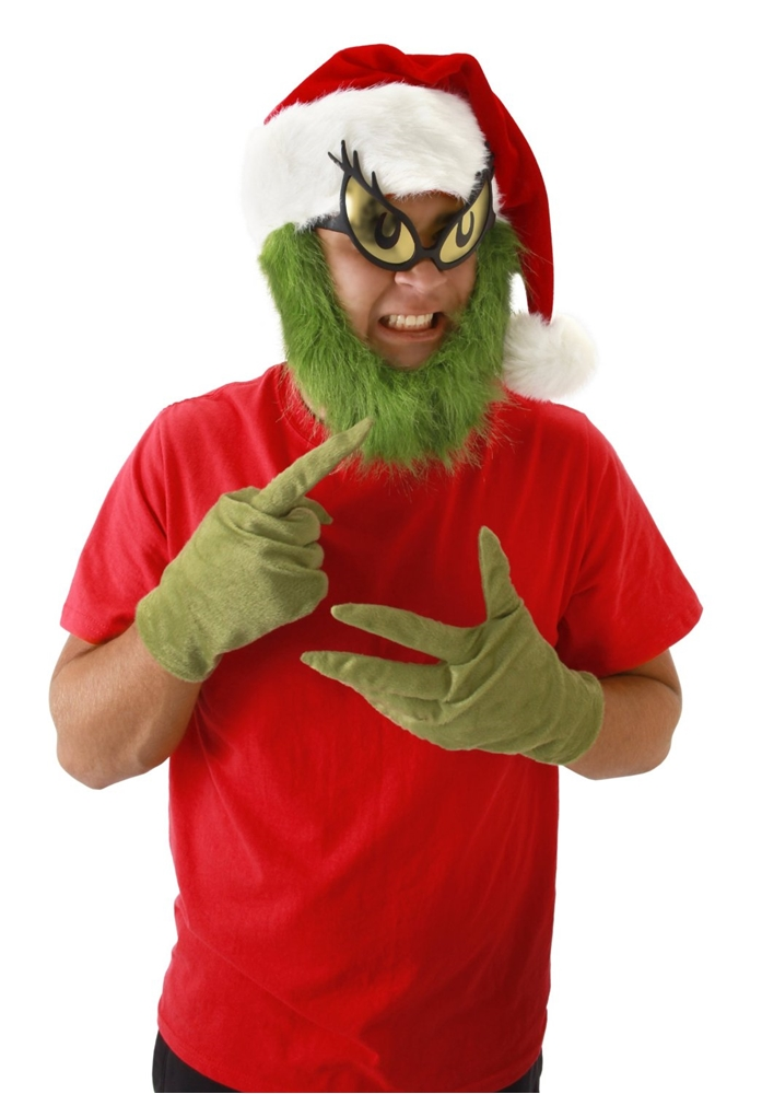 Grinch Hat with Beard Adult Male Hat Kit