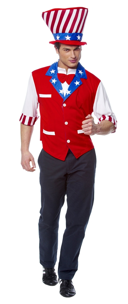 Uncle Sam Hat And Shirt Adult Man Costume