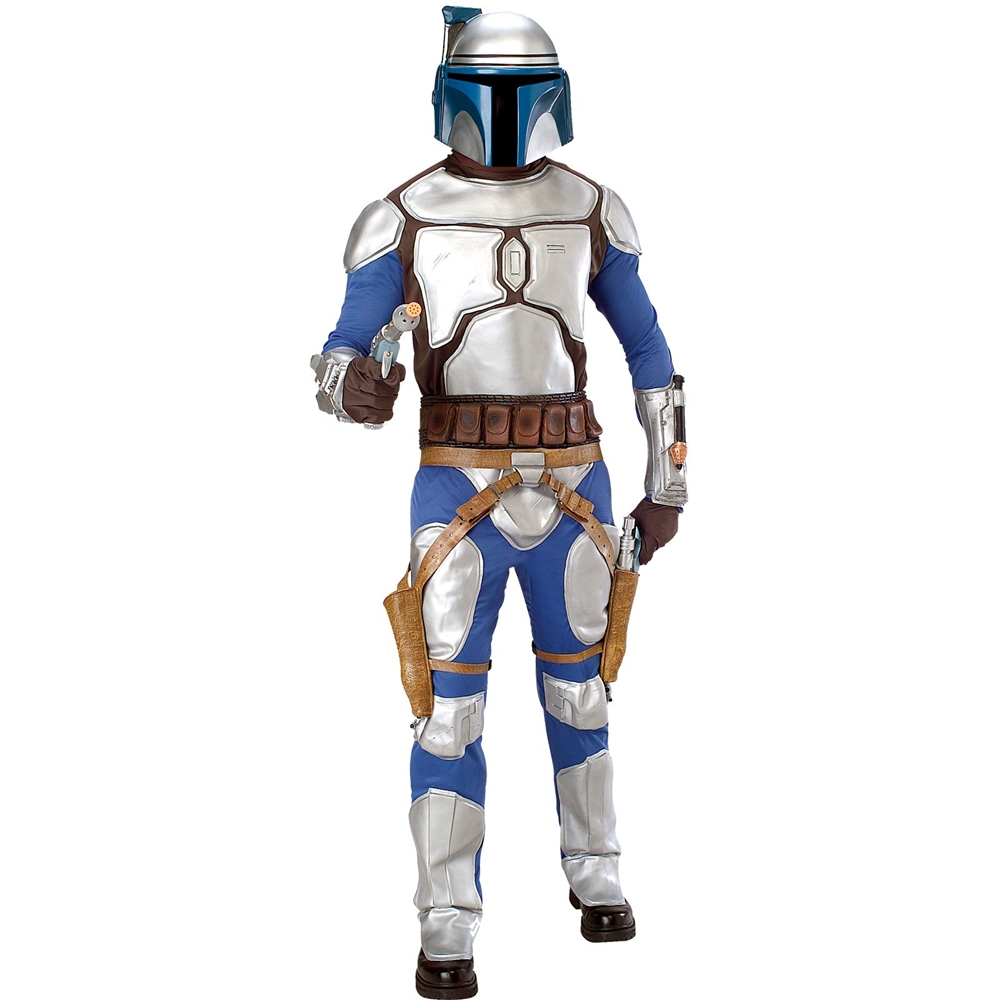 star wars classic deluxe jango fett adult mens costume 297827. Black Bedroom Furniture Sets. Home Design Ideas