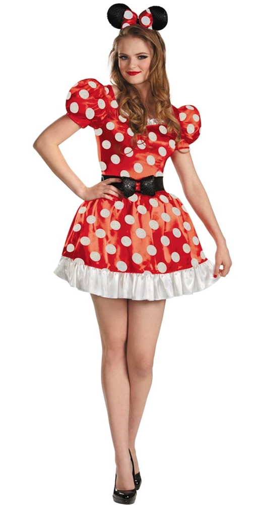 Red Minnie Mouse Classic Adult Womens Costume