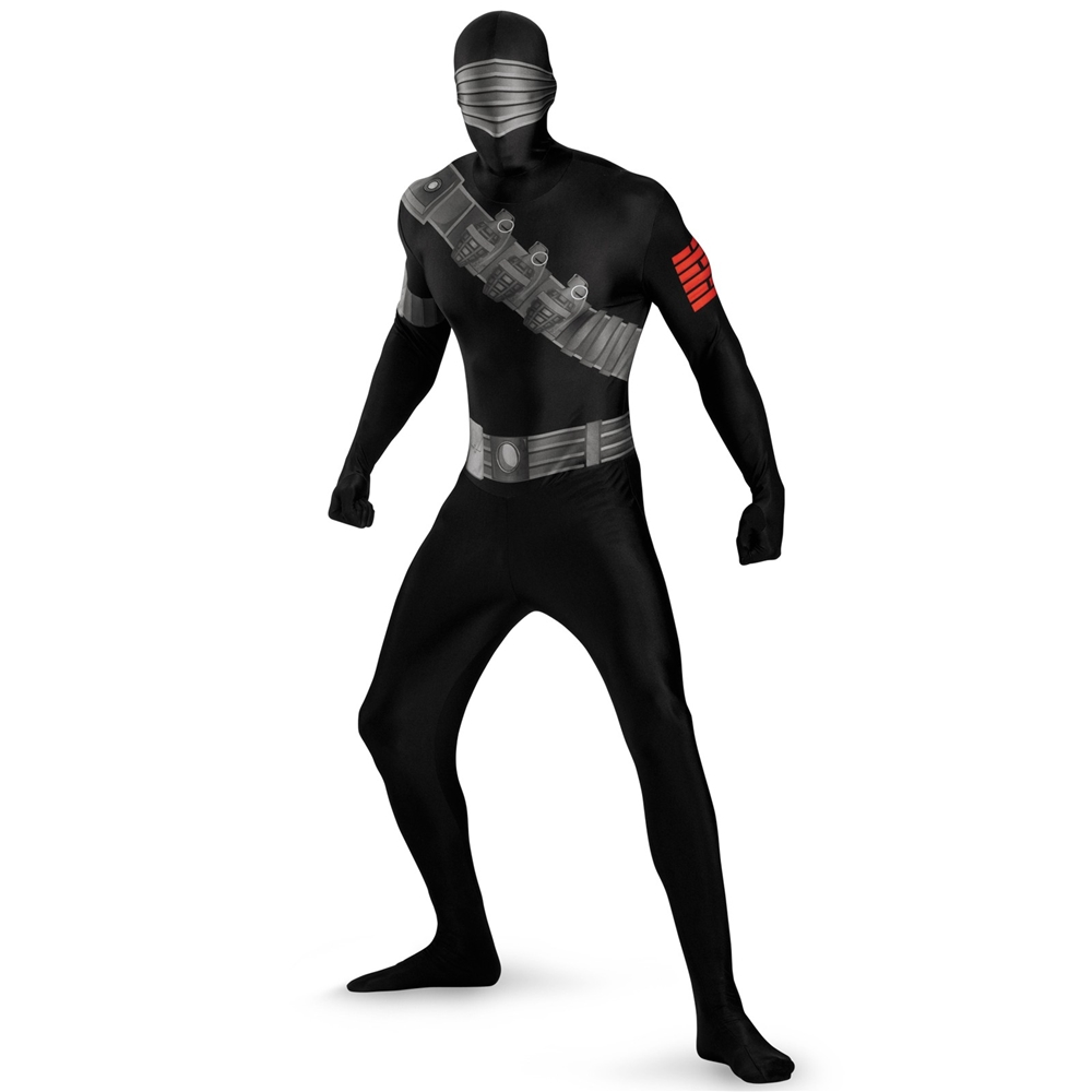G.I. Joe Snake Eyes Bodysuit Plus Size Adult Mens Costume