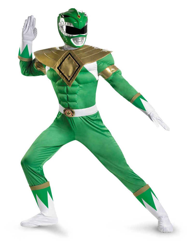 Power Rangers Green Ranger Classic Muscle Adult Mens Costume