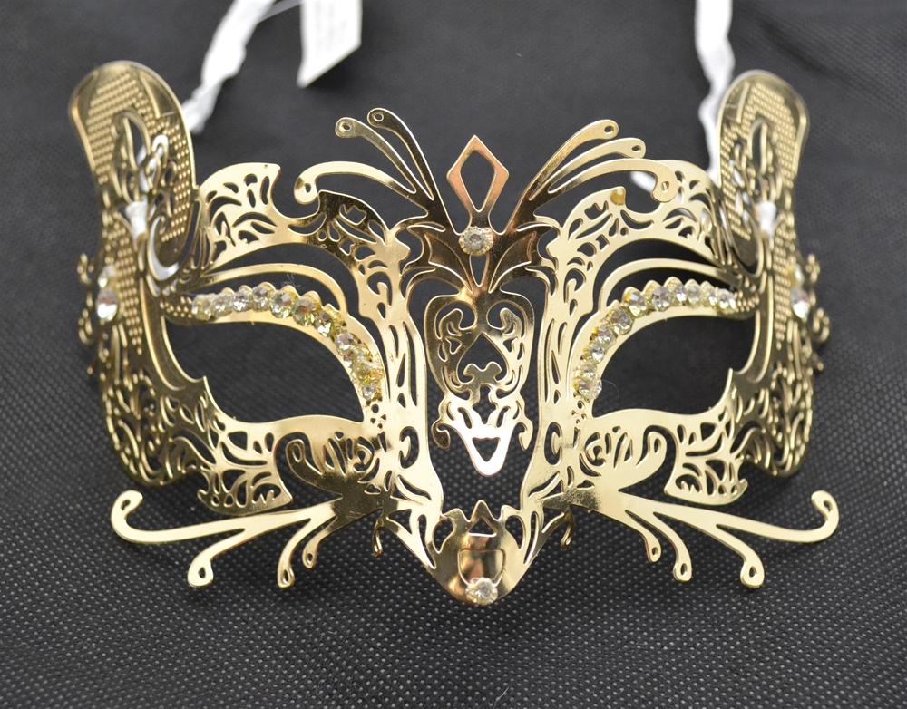 Metal Venetian With Faux Diamonds Mask