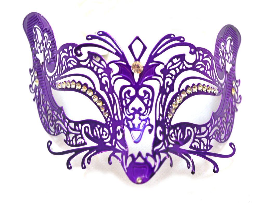 Purple Metal Venetian Mask