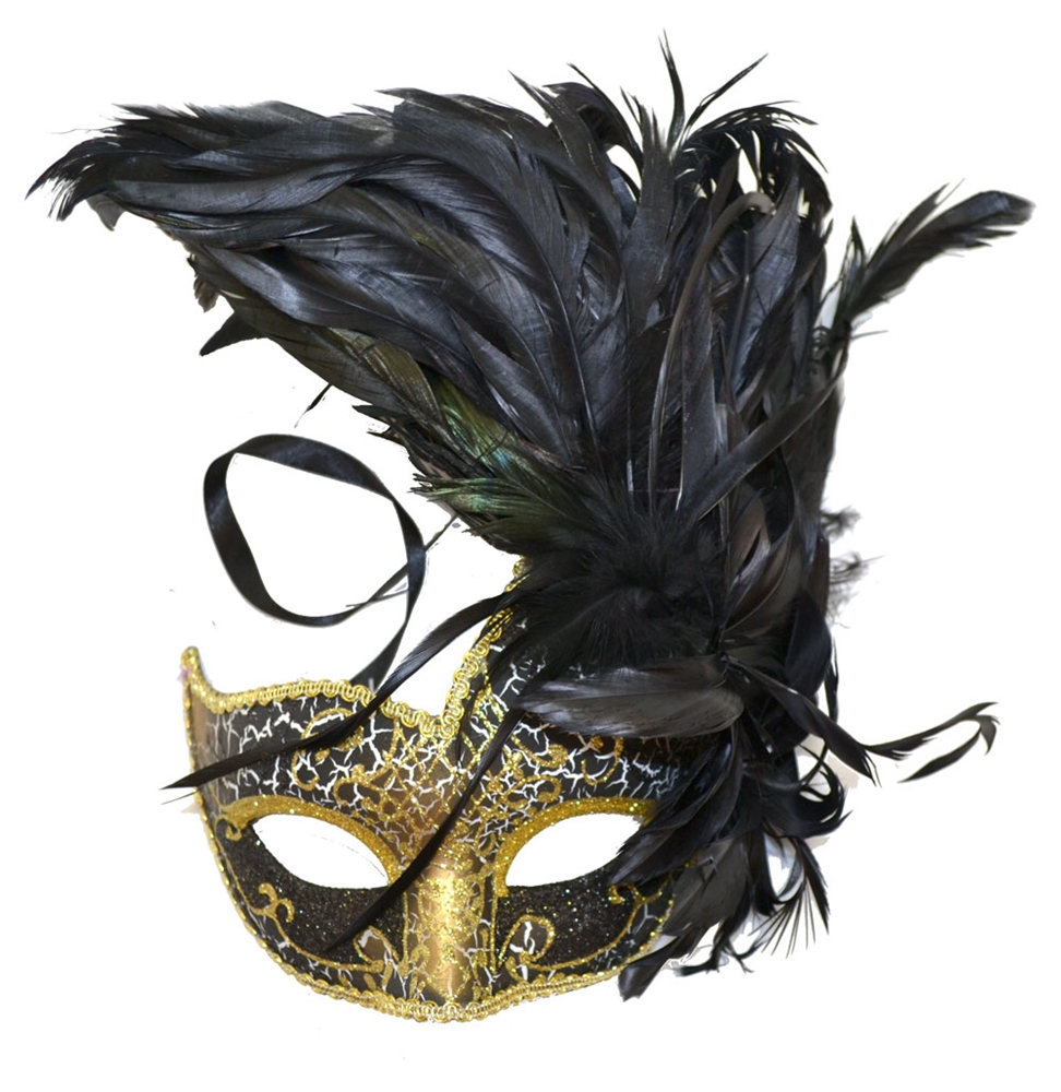 Venetian Masquerade Feather Mask